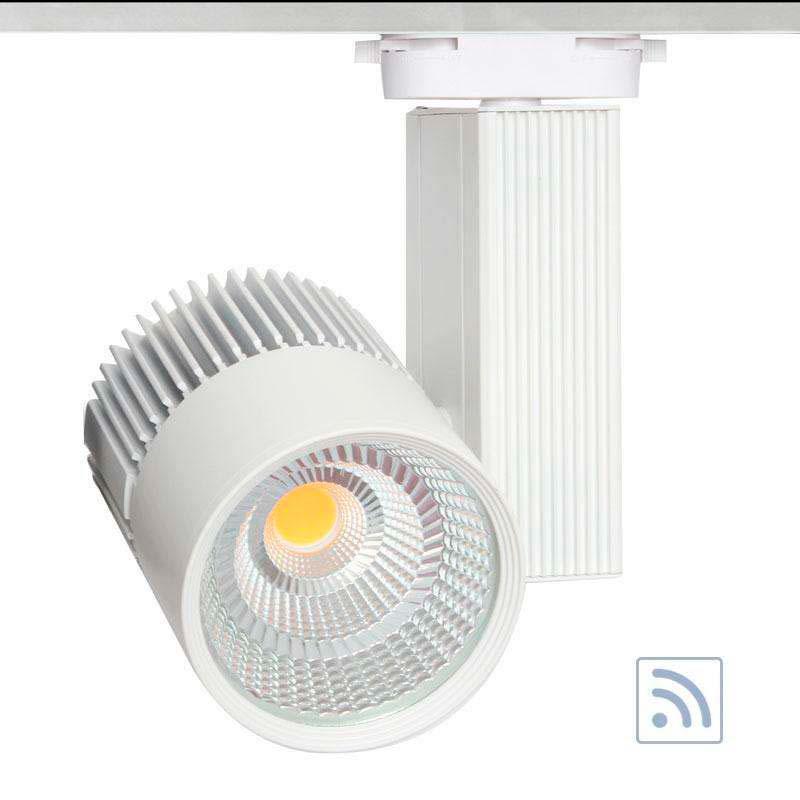Foco carril CRONOLUX RAIL LED blanco 30W, RF, Regulable